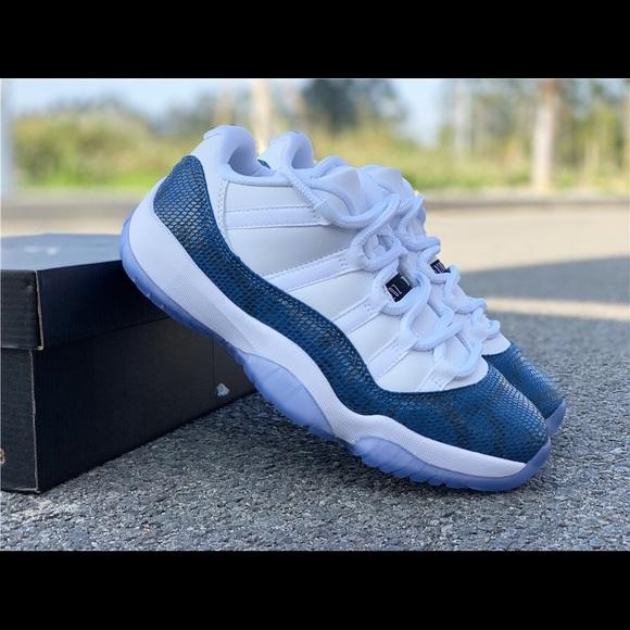 Nike Shoes Brand New Air Jordan 11 Retro Low Blue Snakeskin